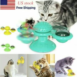 Cat Turning Windmill Turntable Tickle Pets Scratch Hair Brush Pet Toy US