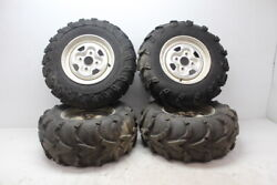 02 03 04 05 06 07 08 Yamaha Grizzly 660 Front Rear Wheels Rims W Tires