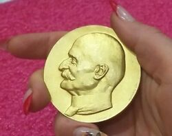 Marius Berliet French Founder Car Company Gold Plated Silver Medal Rare