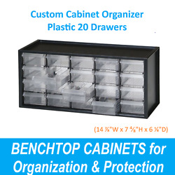 Dental Impression Trays Organizer Dental Benchtop For Small Items - 20 Drawers