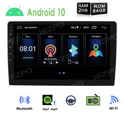 9 Android 10 Car Stereo Radio Player 2+64gb Gps Navi Double 2din Wifi Subwoofer