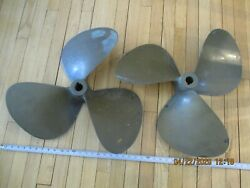 Brass Props 23x17x1-1/2 Tapered Shaft Federal Equi-poise 3 Blade Matched Set