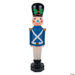 Light-up Blue Vintage Toy Soldier Outdoor Christmas Decorations 42 Brand New