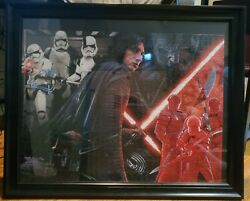 Unique Collection Buffalo Disney Star Wars Jigsaw Puzzles Assembled W/ Frames