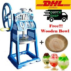 22tall Manual Ice Block Shaver Machine Snow Cone Maker Desert Summer Party Dhl