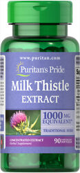 Puritanand039s Pride Milk Thistle Extract Silymarin 1000 Mg 90 Softgels