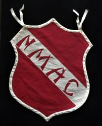 Orig. Early-1900's New Mexico Agricultural College Lg. Shield Pennant-banner