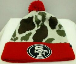 San Francisco Nfl 49ers Beanie Knit Winter Hat Camouflage Print One Size '47 New