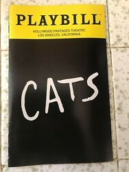 Cats Broadway Playbill Hollywood Pantages Theatre Los Angeles March 2019