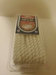 Dockmate Dock Line   3/8 Inch X 20 Foot White