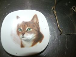 Bavaria Cat Germany Plate 4 amp; 3 4quot; Vintage with stand