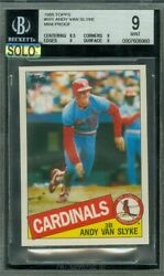 1985 Topps Mini 551 Andy Van Slyke Bgs 9 Mac Solo Finest Grade 100 Cards Made