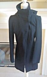 Betabrand All Day Coat Hooded Snaps Black Us Womenandrsquos S Project Runway
