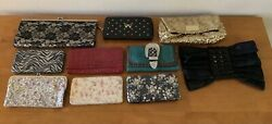 Evening Bag Clutch Purses Lot Of 10 Rustic Coutures Victoria Secret others $34.99