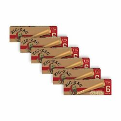 Zig-zag Unbleached Pre Rolled Cones 1 1/4 6 Pack Of 6 Cones 36 Total Cones