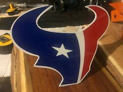 Houston Texas/texans Custom Metal Trailer Hitch Cover Red Blue And White