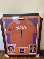 Devin Booker Signed Framed Jersey With Devin Booker Certificate Of Authenticity