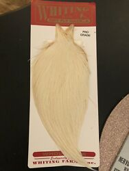 Fly Tying Whiting Neck Cape Dry Fly Pro Grade Hackle In White Red Label . New