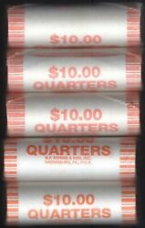 5 Rolls 2005 P West Virginia Quarter Uncirculated Bank Rolls 40 Coins Each Roll