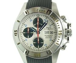Ball Watch Engineer Hydrocarbon Chronograph Dc1016a-pj-wh White Dial Menand039s 42 Mm