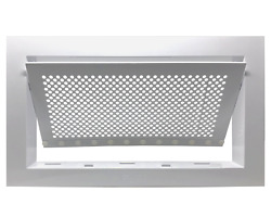 Freedom Flood Vent- Fema Compliant, Icc-es Certified 250 Sq. Ft. Coverage- White