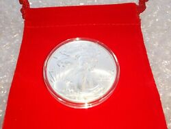 2021 American Silver Eagle Type 1 1oz .999 Silver Coin W/capsule Velvet Pouch