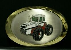 Case 2870 Traction King 4wd Tractor Metal And Enamel Collectible Belt Buckle Farm