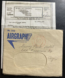 1942 Middle East Forces Hospital Airgraph Service Cover To Glasgow Scotland