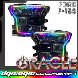 Oracle Dynamic Colorshift Pre-assembled Headlights Black For 15-17 Ford F-150