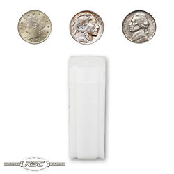 100 - Coinsafe Tubes For Nickels - Holds 40 Coins - Liberty, Buffalo And Jefferson
