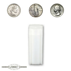 100 - Coinsafe Tube For Quarters - Holds 40 Coins - Standing Liberty Washington