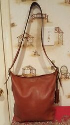 COACH CROSSBODY BROWN LEATHER LARGE BAG. $85.00