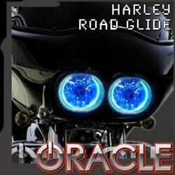 Oracle Lighting Headlight Blue Smd Halo Kit For 1999-2015 Harley Road Glide