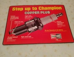 Champion Spark Plug Two-sided Sign Dealers Display Laminated Poster Sign Mat
