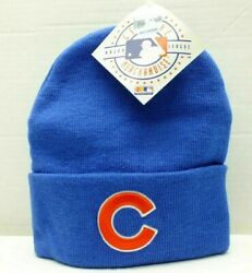 Chicago Cubs Knit Beanie Team Winter Hat Mlb Baseball Blue Cuffed One Size New