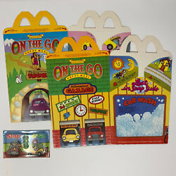 Vintage 1985 Mcdonalds On The Go Happy Meal 2 Boxes Cartons And 1 Toy 1980s