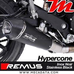Silent Remus Hypercone Stainless Steel Black Without Cat Ducati Scrambler