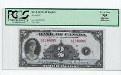 1935 Boc 2 Note Bc-3 Ser A1240095 Osb/tow Pcgs Vf-35 English Minor Stains
