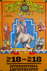 Vintage 1978 Ringling Bros And Barnum And Bailey Circus Poster 109th Year Rolled