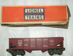 Lionel 6456 Red Hopper Car Leigh Valley Used Untested Box Is In Poor Condition