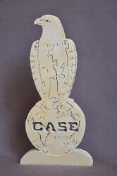 Case Tractor Eagle Old Abe Bird Amish Made Wooden New Puzzle Toy Figurine