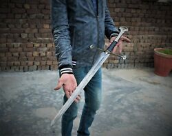 36 Extreme Quality Damascus Steel Lotr Anduril Narsil Aragon's Medieval Sword.