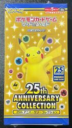 Pokemon Card Expansion Pack 25th Anniversary Collection Box Japanese Unopened