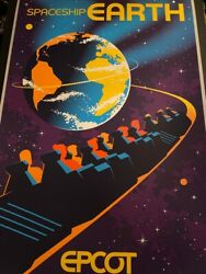 Disney Epcot Spaceship Earth Limited Edition Serigraph Poster Sold Out 58/100