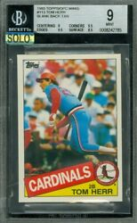 1985 Topps Mini 113 Tom Herr Tan Proof Bgs 9 Mac Solo Finest 5 Cards Made