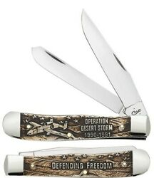 Case Knife #22033 Desert Storm Natural Bone Brand New w Box FREE SHIPPING