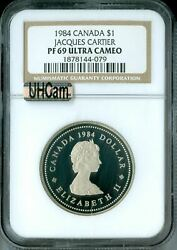 1984 Canada Clad Jacques Dollar Ngc Mac Pf69 Uhcam Finest Spotless