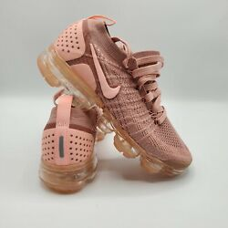 Women's Pink Nike Air Vapormax Flyknit 2 Running Trainers Shoes 942843-600