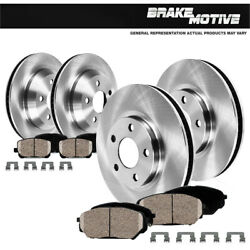 Front And Rear Brake Disc Rotors Ceramic Pads For Audi A6 Quattro 2009 2010 2011