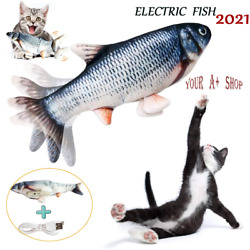 Electric Realistic Interactive Fish Cat Kicker Crazy Dancing Pet Toy Xmas Gift